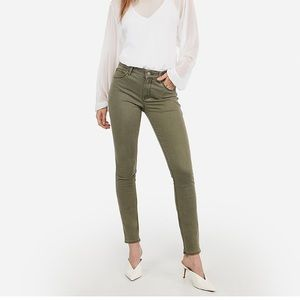 Olive Green Express Jeans